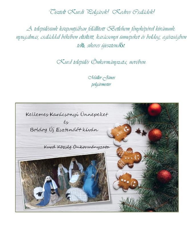 Karácsonyi üdvözlet 2018