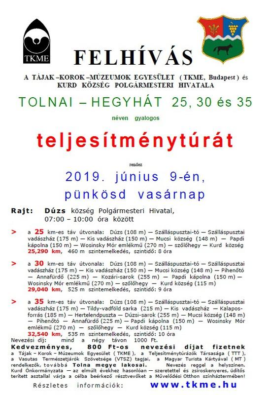 Teljesítménytúra plakát 2019