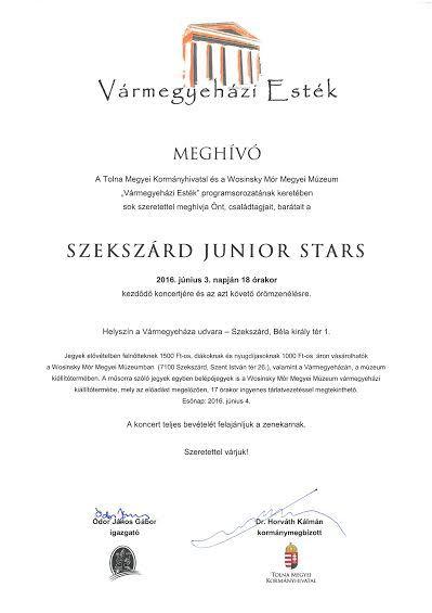 Szekszárd Junior Stars koncert