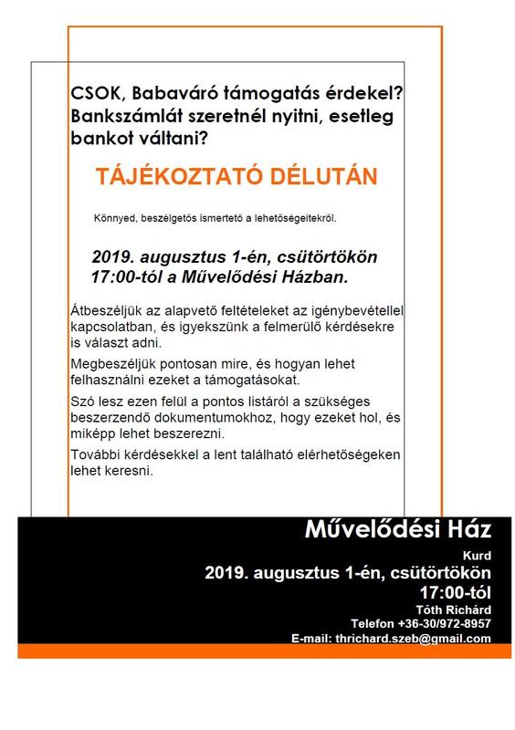 Plakát CSOK, babaváró tájékoztató
