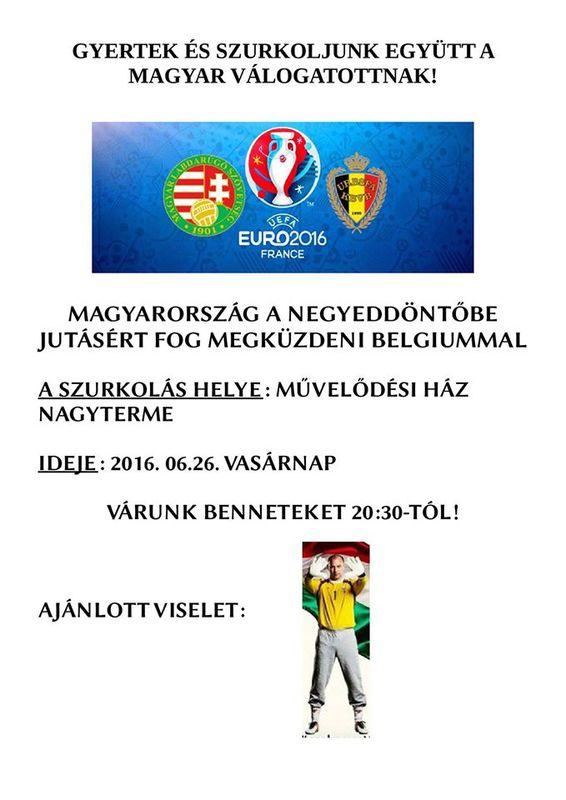 Közös szurkolás a magyar válogatottért