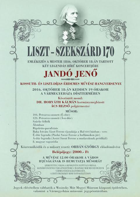 Jandó Jenő hangverseny - meghívó