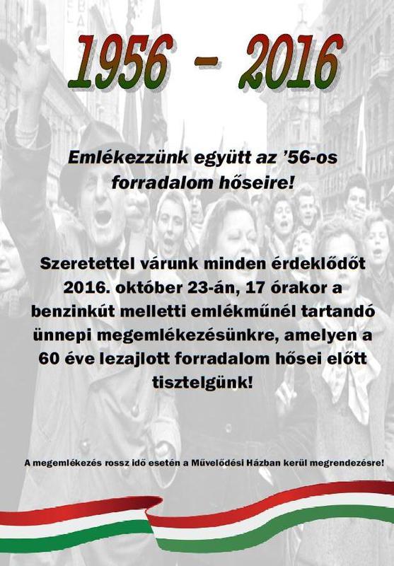 1956-os megemlékezés plakát