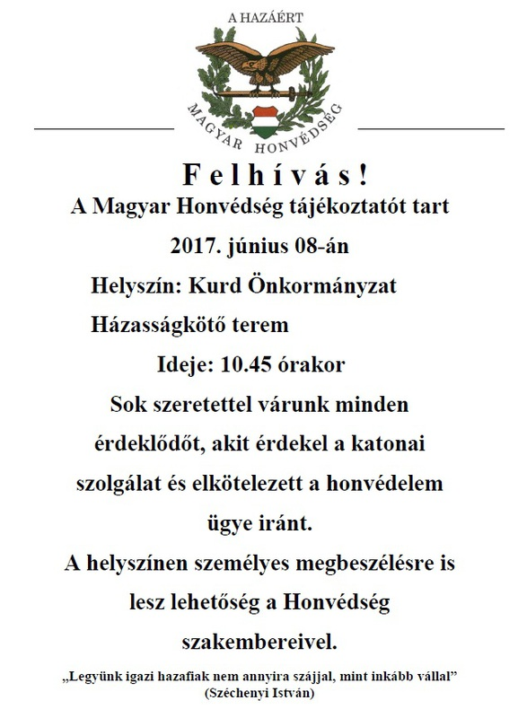 Magyar Honvédség felhívása