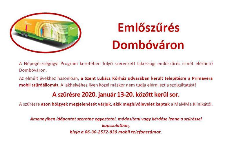 Emlőszűrés Dombóváron_szórólap_20200113