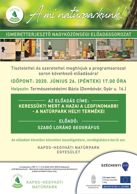 A natúrpark termékei előadás meghívó