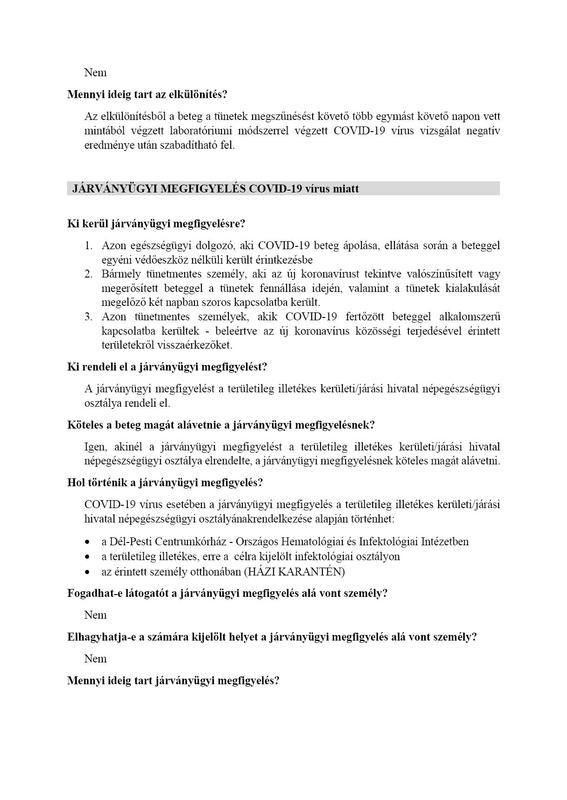 elkülönítés, járványügyi mgfigyelés és önmegfigyelés 3