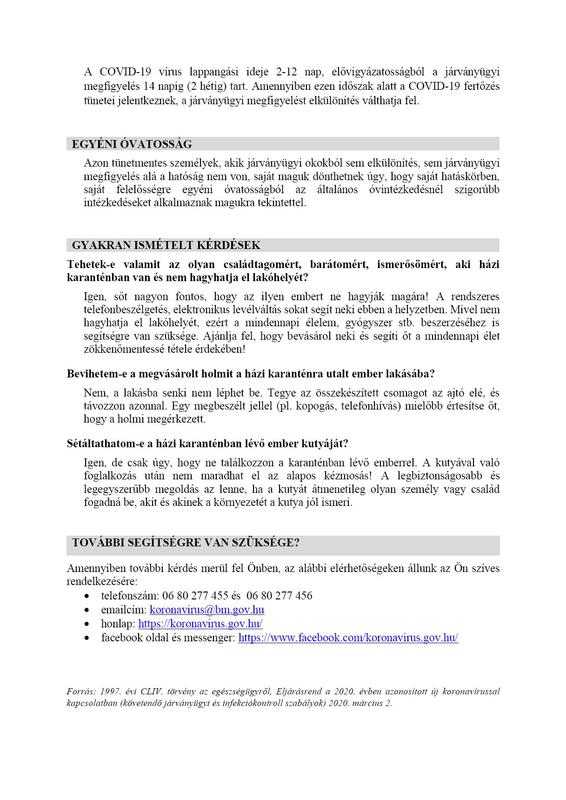 elkülönítés, járványügyi mgfigyelés és önmegfigyelés 4