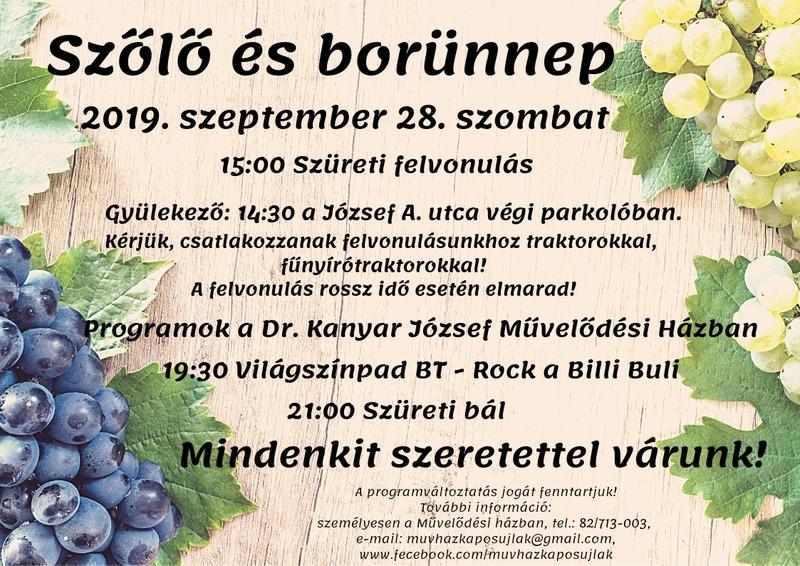 Szőlő és Bor ünnepe 2019,09,28