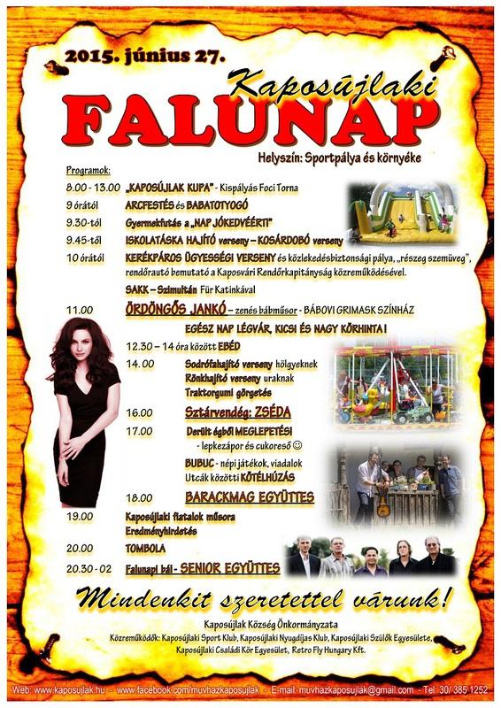 Kaposújlaki Falunap 2015. plakát
