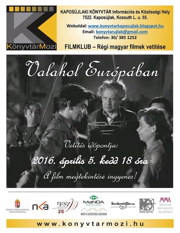 KönyvtárMozi - plakát