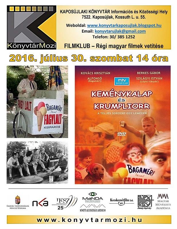 KönyvtárMozi - Keménykalap és krumpliorr - plakát