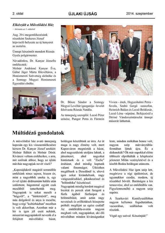 Újlaki Újság - 2014. szeptember - 2. oldal