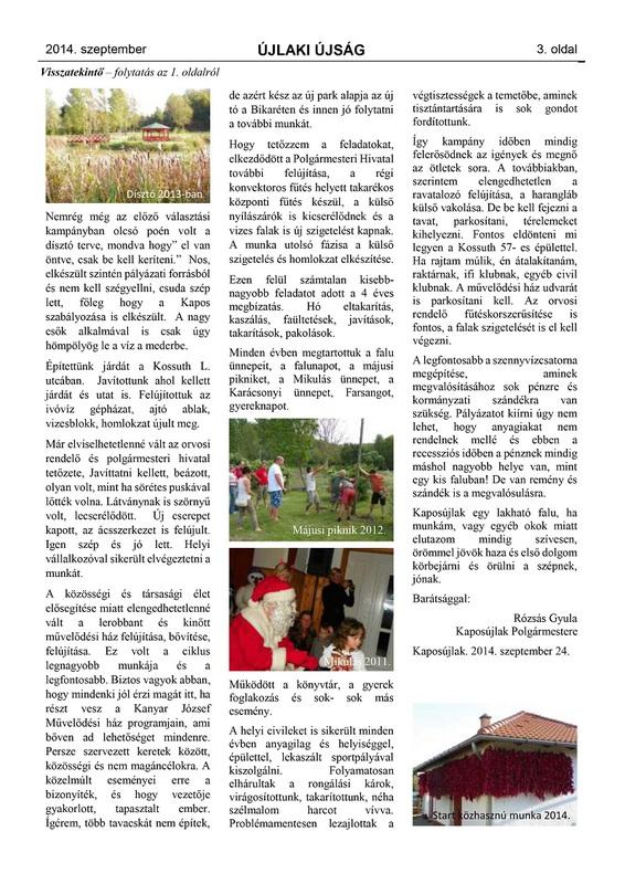 Újlaki Újság - 2014. szeptember - 3. oldal