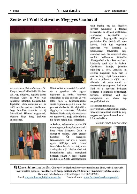 Újlaki Újság - 2014. szeptember - 4. oldal