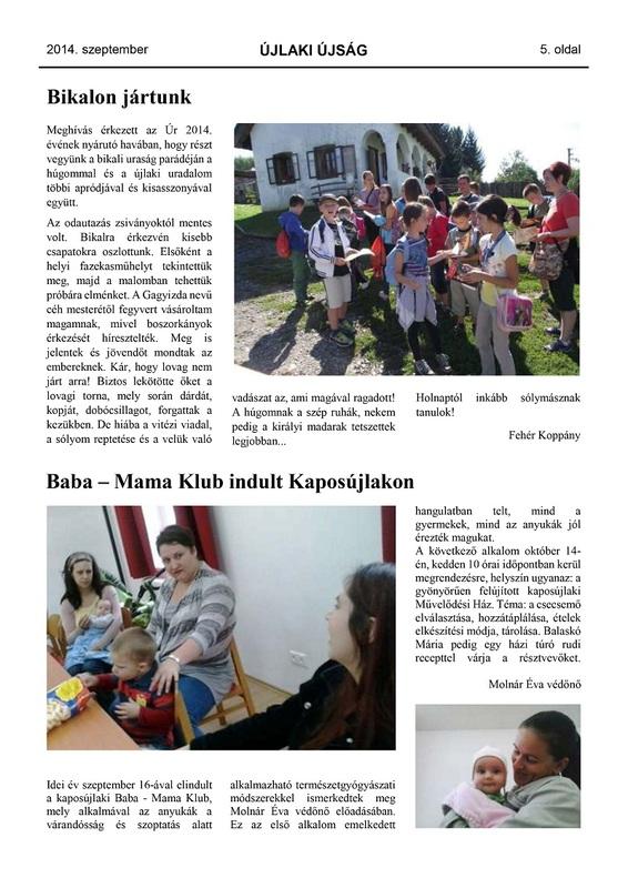 Újlaki Újság - 2014. szeptember - 5. oldal