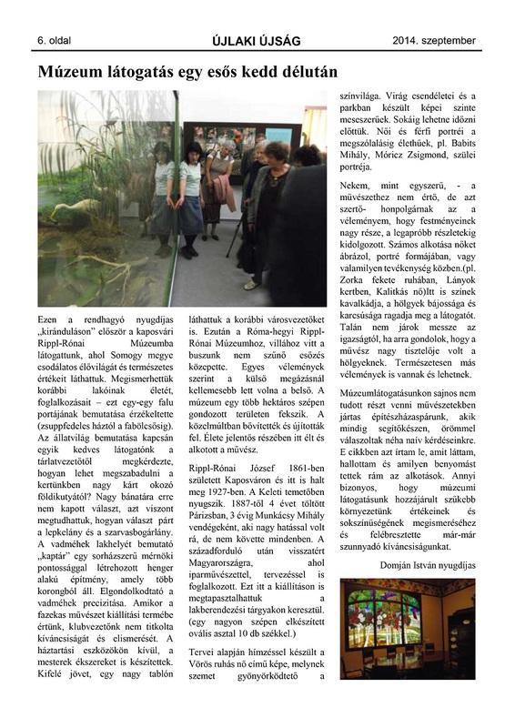 Újlaki Újság - 2014. szeptember - 6. oldal