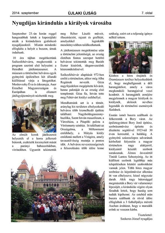 Újlaki Újság - 2014. szeptember - 7. oldal