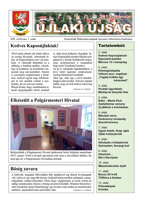 Újlaki Újság 2015.02 - 1