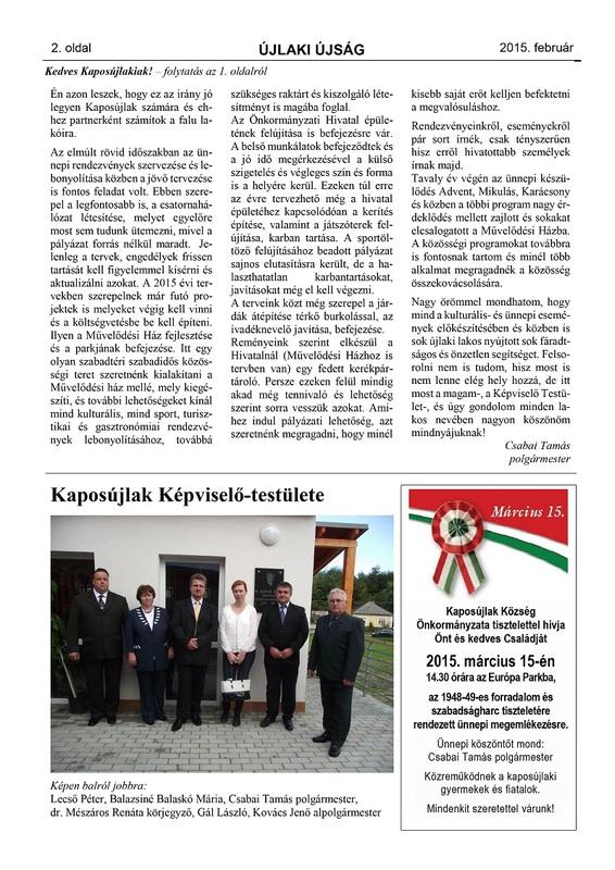 Újlaki Újság 2015.02 - 2
