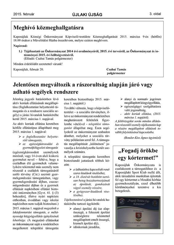 Újlaki Újság 2015.02 - 3