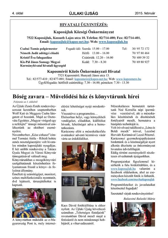 Újlaki Újság 2015.02 - 4