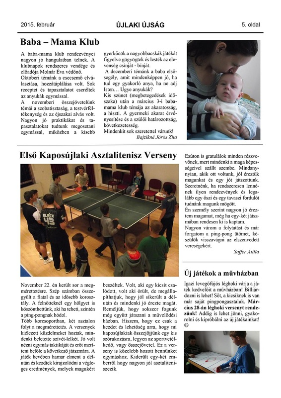 Újlaki Újság 2015.02 - 5