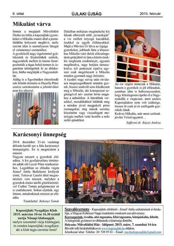 Újlaki Újság 2015.02 - 6