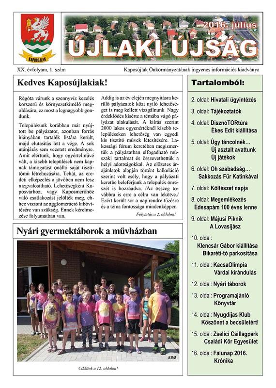 ÚJLAKI ÚJSÁG - 2016. 07.