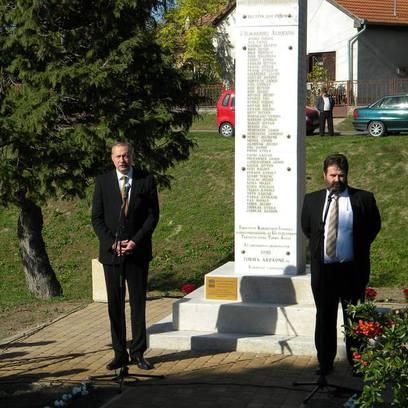 I. Világháborús emlékmű avató ünnepség