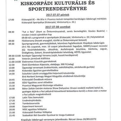 Kiskorpádi Falunap 2017