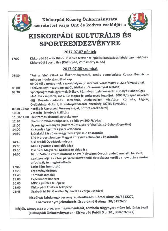 Kiskorpád Falunap 2017