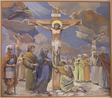 Jézus Urunk freskó