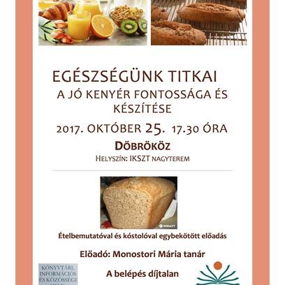 A kenyérről szóló előadás az IKSZT-ben